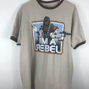 "Stars Wars Men's ""I'm a Rebel"" Shirt Size"
